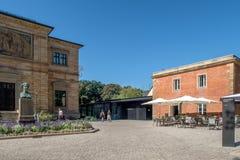 Historica gammal stad av Bayreuth - Jean Paul Platz Royaltyfria Bilder