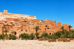 Historical Ait-Ben-Haddou. The historical and UNESCO protected mountain village Ait-Ben-Haddou in Morocco royalty free stock photo