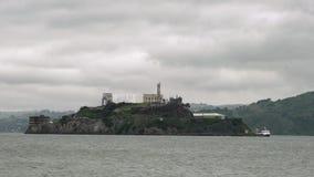 The historical Alcatraz Island stock video footage