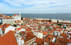 Historical Alfama district at Lisbon, Portugal Royalty Free Stock Photography