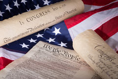 Historical American Documents Stock Photo