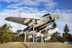 Military Aircrafts Memorial, USA. Historical American military aircrafts memorial Stock Photos