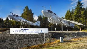 Military Aircrafts Memorial, USA. Historical American military aircrafts memorial Royalty Free Stock Photography