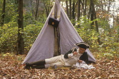 Historical American Revolutionary war event Stock Photography