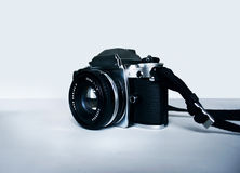 Historical analog camera reflex Royalty Free Stock Images