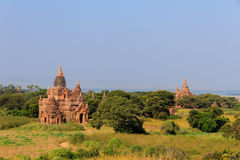 Historical Ancient  Pagodas ,  Bagan in Myanmar (Burmar) Royalty Free Stock Image