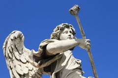 Historical angel statue of Castle Saint Angelo Royalty Free Stock Photos