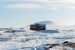 Historical Ani Ruins and Winter Landscapes, Kars, Turkey. February 2017 stock photos