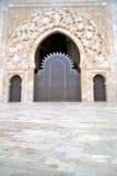 Historical in  antique building door marble. Historical in  antique building door morocco style africa   wood and metal rusty Stock Photo