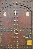 historical in  antique building door morocco  and metal rusty Royalty Free Stock Photography