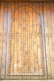 Historical in  antique building door morocco style africa   wood Stock Photos