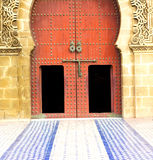 historical in  antique building door morocco style africa   wood Stock Photo