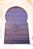 Historical in  antique building door morocco style africa   wood. And metal rusty Royalty Free Stock Photo