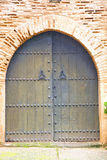 historical in  antique  door morocco s  wood and metal rusty Stock Photography