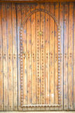 Historical in  antique   wood and metal rusty. Historical in  antique building door morocco style africa   wood and metal rusty Stock Photography