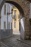 Historical arch in Faro city. View of the Historical arch in Faro city, Portugal Stock Photo