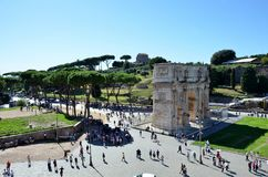 Historical arch in Rome royalty free stock images