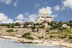 Historical and archaeological reserve Chersonese and the Cathedral of St. Vladimir, Crimea Royalty Free Stock Photos