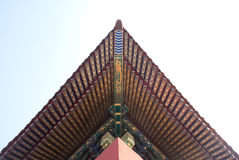 Historical architectural roof in Beijing Royalty Free Stock Photography