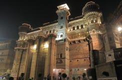 Ganges river ghat Varanasi India. Historical architecture Brijrama Palace at Darbhanga Ghat in Varanasi India Royalty Free Stock Photo