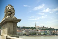 Historical architecture of Budapest, Hungary Stock Photos
