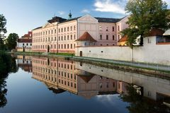 Historical architecture of Ceske Budejovice town Royalty Free Stock Photo