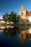 Historical architecture of Ceske Budejovice town Royalty Free Stock Image