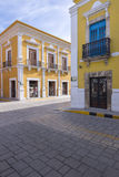 Historical architecture of downtown Campeche Royalty Free Stock Photo