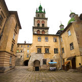 Historical architecture of Lviv city, Ukrane Stock Images