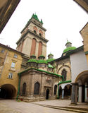 Historical architecture of Lviv city, Ukrane Royalty Free Stock Photography
