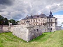 Historical architecture monument that was built in 17 century Pidgoretsky castle in Pidgirtsy, Lviv region, Ukraine. Historical architecture monument Pidgoretsky royalty free stock images
