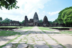 Historical architecture of Phimai, Thailand Royalty Free Stock Photos