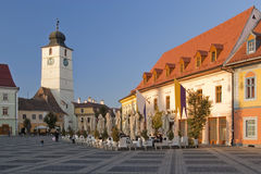 Historical architecture in Sibiu Stock Photography