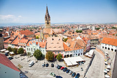 Historical architecture in Sibiu, Transylvania, Romania . Royalty Free Stock Image