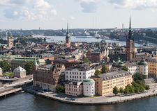 Historical architecture tower in Stockholm, Sweden Stock Image