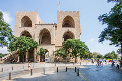 Historical architecture of Valencia royalty free stock photos