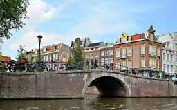 Historical area of Amsterdam, Netherlands Stock Photos