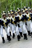 Historical army parade Stock Photo