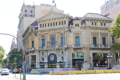 Historical and artistic building, Barcelona Stock Photography