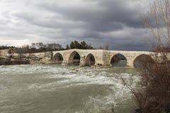 Historical Aspendos bridge Royalty Free Stock Images