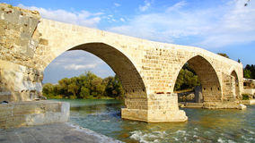 Historical Aspendos bridge, Turkey Stock Photos