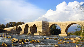 Historical Aspendos bridge, Turkey Royalty Free Stock Image
