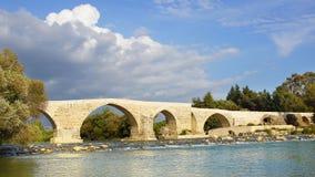 Historical Aspendos bridge, Turkey Royalty Free Stock Photo