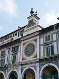 A historical  astronomical clock in Brescia in Ita Stock Images