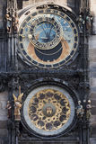 Historical astronomical clock in the Old Town square in Prague Stock Image