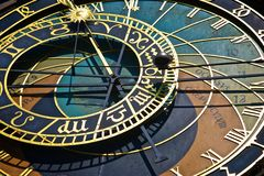 Historical astronomical clock in Prague Stock Photography