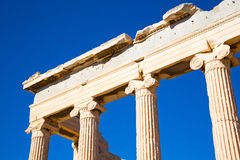 Historical   athens in  e and historical place Royalty Free Stock Photo