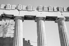 Historical   athens in greece the old architecture and historica Royalty Free Stock Image