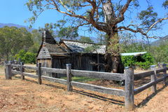 Historical Australian settlers school house Stock Images