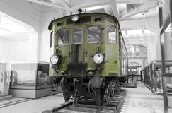 """Historical austrian electric locomotive 1060 - selective color isolation. Electric locomotive 1060 on display at the """"Technisches Museum"""" in Vienna Stock Images"""